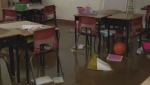 A Cape Breton school damaged by flood is set to welcome students back after March break, but some parents think it's reopening too soon
