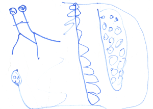 Weather art by Sean, age 6, from Florence Nightingale School.