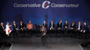 Deepak Obhrai speaks during the Conservative leadership debate at the Maclab Theatre in Edmonton, Alta., on Tuesday, Feb. 28, 2017. THE CANADIAN PRESS/Codie McLachlan