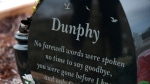 The gravesite of Don Dunphy in Mitchell's Brook, N.L., on Monday, December 19, 2016. THE CANADIAN PRESS/Paul Daly