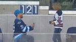 Fan pops the question at Winnipeg Jets game