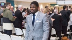 Nashville Predators P.K. Subban walks away after receiving the Governor General Meritorious Service Decoration during a ceremony, Wednesday, March 1, 2017 in Montreal. THE CANADIAN PRESS/Paul Chiasson