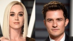 Katty Perry and Orlando Bloom are seen in this composite image. (Evan Agostini / Invision / AP)