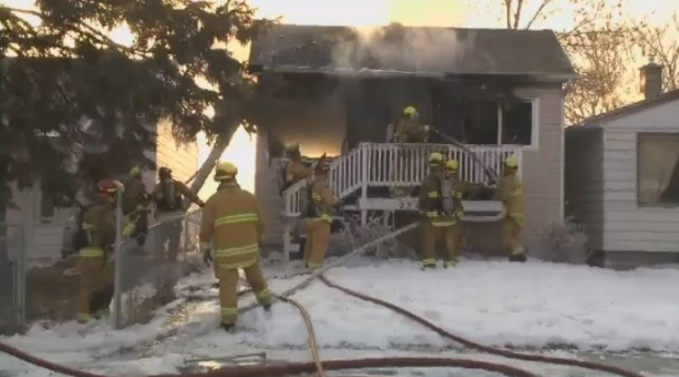 House fire on Argyle Street in Regina