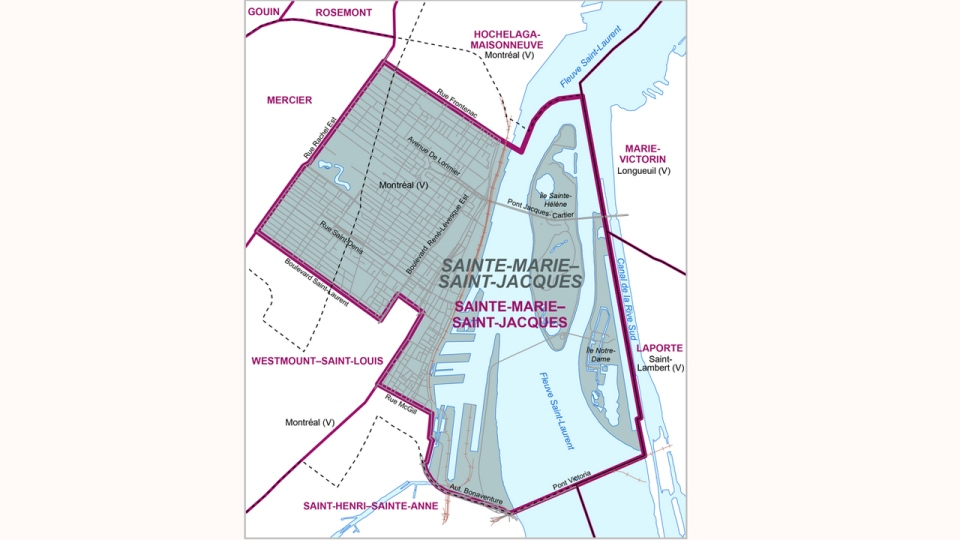 The Sainte Marie Saint Jacques riding will maintain its boundaries for the 2018 election.