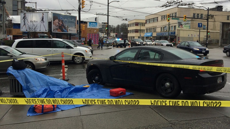 At least two people were stabbed in a series of three assaults in Vancouver on March 2, 2017. (CTV)