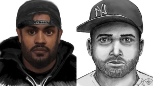 The OPP released these sketches on Thursday, March 2, 2017 of a suspect wanted in connection to sexual assaults in Collingwood, Ont. and Toronto, Ont.