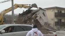 House demolition in Regina