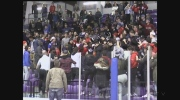 A brawl broke out in the stands following the Catholic Board championship hockey game on Thursday, March 2, 2017. (Brent Lale / CTV London)