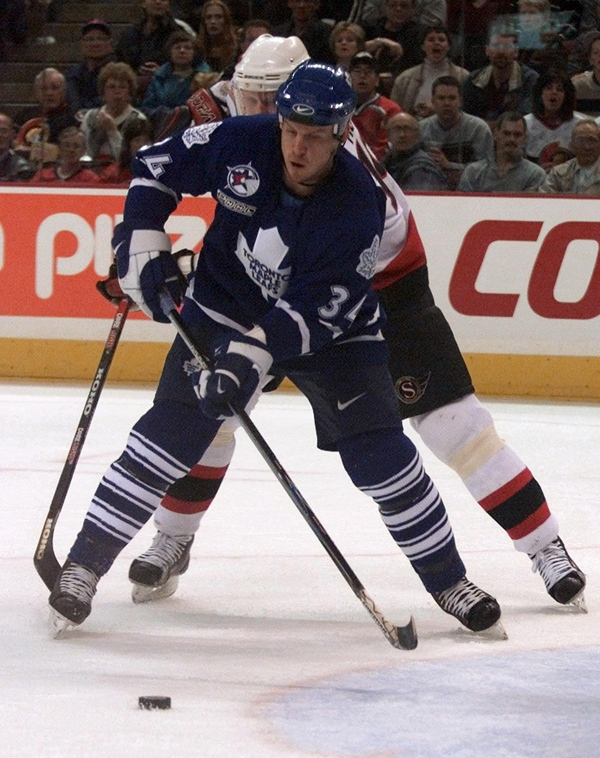 File photo of then Toronto Maple Leaf defenceman Bryan Berard, on Saturday, March 11, 2000, at the Corel Centre, in Kanata, Ont. (CP / Fred Chartrand)