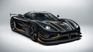 The Koenigsegg Agera RS Gryphon.  The company makes extensive use of carbon fiber in its vehicles (Koenigsegg Automotive)