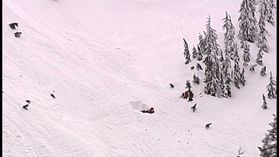A group of other skiers was in the area and helped dig out the victim. (CTV/Chopper 9)