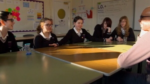 Students in class at Limpsfield Grange. (CTV)