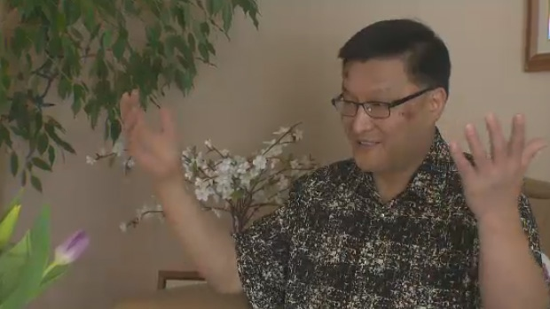 Xiaobo Wu says West Edmonton Mall security was too rough on him while they removed him from the property last Friday.