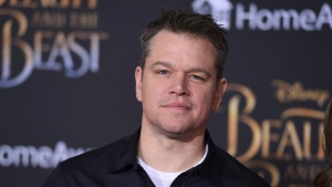 "Matt Damon arrives at the world premiere of ""Beauty and the Beast"" at the El Capitan Theatre on Thursday, March 2, 2017, in Los Angeles. (Jordan Strauss/Invision/AP)"