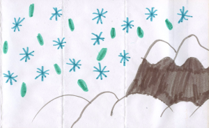 Weather art by Francesca, age 8.