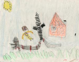 Weather art by Brooke, age 5.