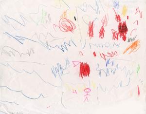 Weather art by Rachel, age 4.