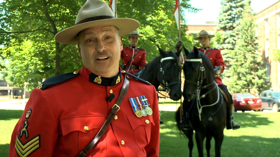 RCMP Sgt. Maj. Marc Godue appears in this image. (June 2014)
