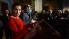 Defence Minister Harjit Sajjan and Foreign Affairs Minister Chrystia Freeland hold a press conference in the foyer of the House of Commons on Parliament Hill in Ottawa on Monday, March 6, 2017. THE CANADIAN PRESS/Sean Kilpatrick