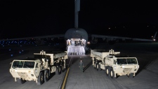 U.S. missile defense equipment in South Korea