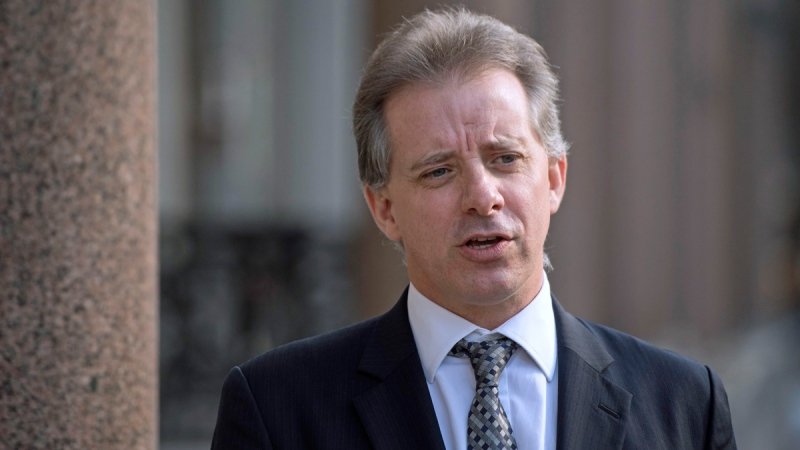 Former British intelligence officer Christopher Steele in London, on March 7, 2017. (Victoria Jones / PA via AP)