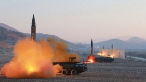 North Korea launches four missiles in an undisclosed location North Korea in this image made available on Tuesday, March 7, 2017. (KRT)
