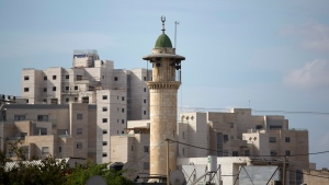 In this Nov. 16, 2016 file photo, the minaret of a mosque is seen in Lod, city in central Israel.(AP Photo/Ariel Schalit, File)