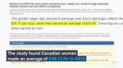 Women still earning less than men in Canada