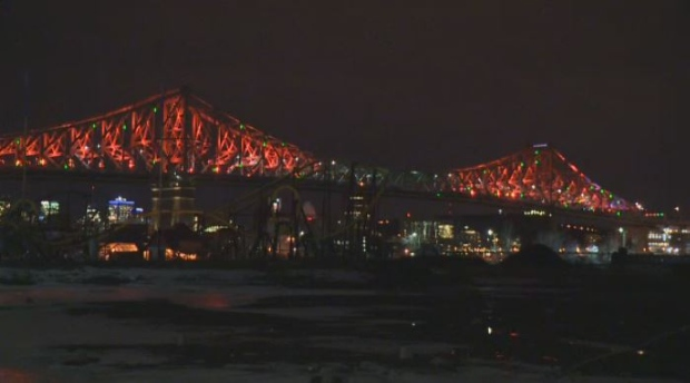 Lights on the Jacques-Cartier Bridge