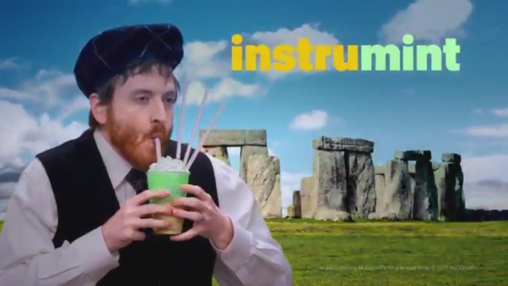 McDonald's Irish Shamrock Shake ad
