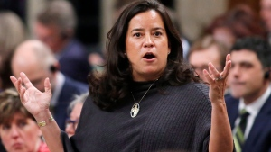 Justice Minister and Attorney General of Canada Jody Wilson-Raybould answers a question during in the House of Commons in Ottawa, Thursday, March 9, 2017. (Patrick Doyle/THE CANADIAN PRESS)