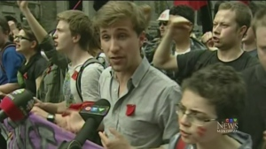 Former student leader Gabriel Nadeau-Dubois announ