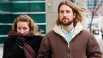 David and Collet Stephan leave for a break during their appeals trial in Calgary, Alta., Thursday, March 9, 2017.THE CANADIAN PRESS/Todd Korol