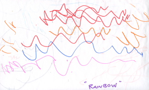 Weather art by Nela, age 4.