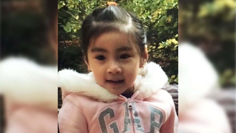 Toronto Police released this photo of a four-year-old girl who was found safe.