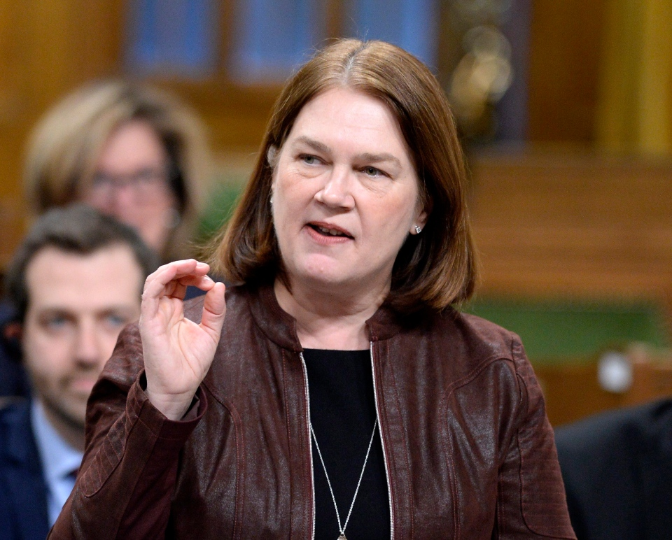 Health Minister Jane Philpott rises during Question Period on Parliament Hill, Friday, March 10, 2017 in Ottawa. (THE CANADIAN PRESS/Justin Tang)