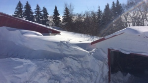 Community of St. Leon, Manitoba on Friday following wicked winter storm.(Simon Stones/CTV News)