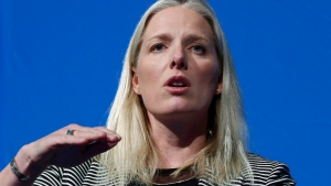 Environment Minister Catherine McKenna speaks at a Calgary Chamber of Commerce luncheon in Calgary, Alta., on Thursday, March 9, 2017. (Todd Korol / THE CANADIAN PRESS)