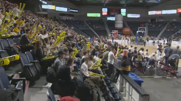 Over 5,000 fans turned out to watch the Dalhousie Tigers advance to the semifinals of the CIS men's basketball championships.