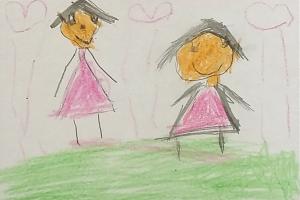 Weather art by Elizabeth, age 4, from OLGC Preschool.