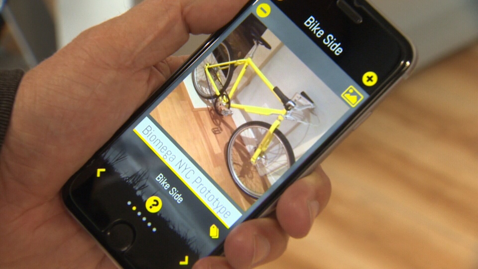 Bicycle owners register their bikes and if they go missing the app will notify the network. Mar. 10, 2017 (CTV Vancouver Island)