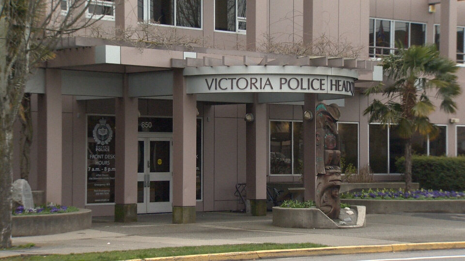 The Victoria Police Department headquarters is shown: Mar. 12, 2017 (CTV Vancouver Island)