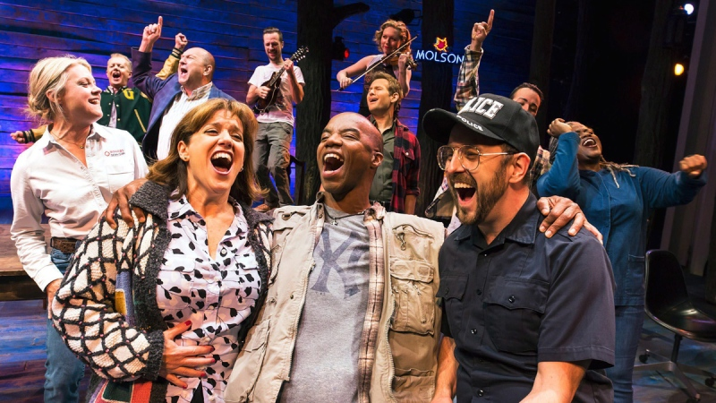 The cast of 'Come From Away' is shown in this undated handout photo. (HO / The Canadian Press)