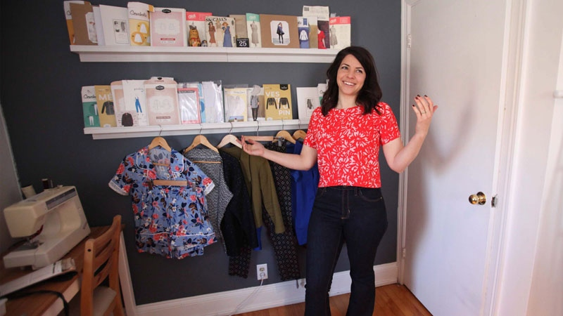 Woman aims to sew her whole wardrobe