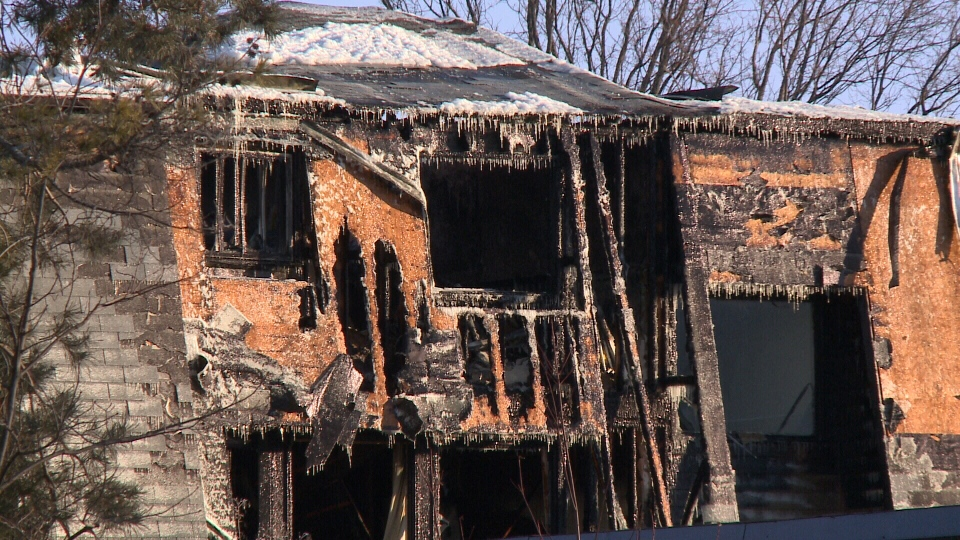 Dozens of people are homeless after a massive fire ripped through a row home complex in Nepean on Sunday, Mar. 12, 2017.
