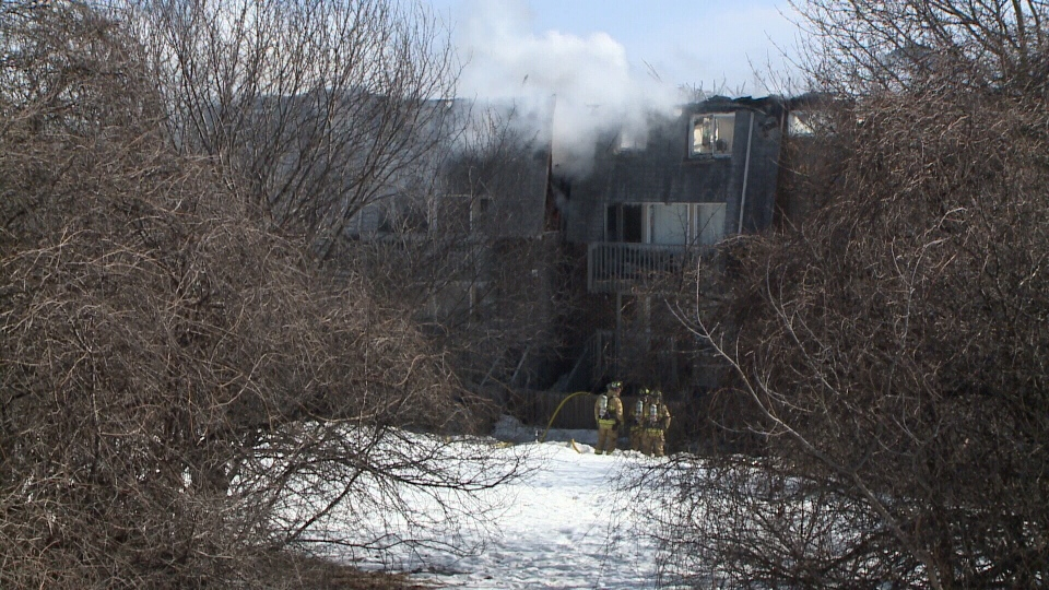 More than 65 people left homeless after fire rips through 32-unit complex in Nepean on Sunday, Mar. 12, 2017.