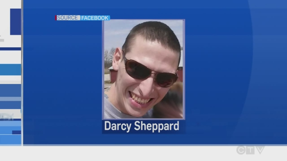 Darcy Sheppard, of Sudbury, plead guilty to the murder if Kenneth Edwards.