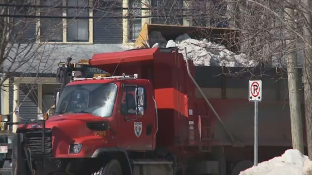 On Monday, Fredericton city crews were removing what snow is still left, to make room for what's to come.