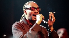 FILE - In this Tuesday, May 3, 2016, file photo, Snoop Dogg performs at Live Nation's National Concert Day at the Irving Plaza in New York. (Photo by Andy Kropa/Invision/AP, File)